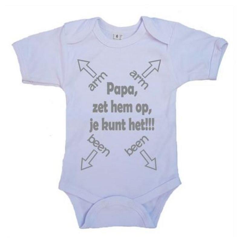 Iets Nieuws Romper met tekst naar keuze | Baby Garage &FU69